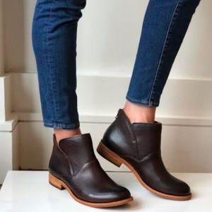 Kork Ease Black Leather Ryder Booties Size 10M